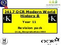 Year 11 OCR Modern World History Revision Pack