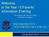 Year 12 Introduction to 6th Form 20...