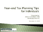 Year End Tax Planning Tips Individu...