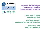 Year End Tax Strategies for Busines...