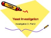 Yeast investigation Part2