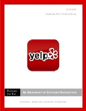 Yelp an Assessment of Customer Sati...