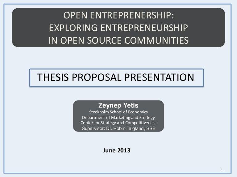 Thesis proposal defense presentation