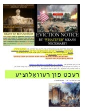Yiddish   Right of REVOLUTION & Pol...