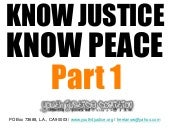 YJC Know Justice, Know Peace Part 1