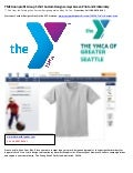 YMCA non profit Group t shirt Custom Design Jerseys Screen Print and Embroidery
