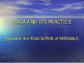 Yoga and Its Practice (Luchi)