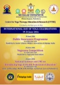 "National Seminar and CME on ""Introducing Yoga in Health Professions Education"" on 21 June 2016 at Sri Balaji Vidyapeeth, Pondicherry"