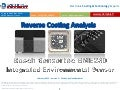 Bosch Sensortec BME280 Integrated Environmental Sensor 2015 teardown reverse costing report published by Yole Developpement