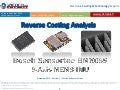 Bosch Sensortec BMX055 9-Axis MEMS IMU teardown reverse costing report published by Yole Developpement