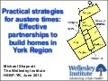 Practical strategies for austere times: Effective partnerships to build homes in York Region