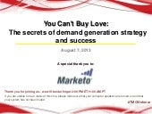You Can't Buy Love: The Secrets of ...