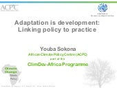 Youba Sokona: Adaptation is develop...