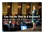 Can You Do That In a Keynote?