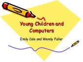 Young Children And Computers