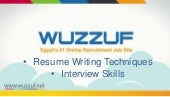Career Guidance - Resume Writing and Interview Skills
