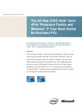 The All New 2010 Intel Core vPro Pr...