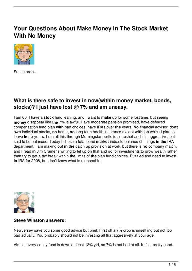 Yourquestionsaboutmakemoneyinthestockmarketwithnomoney  121023145956phpapp01thumbnail4g?cb=1351004415 How To Buy Stock