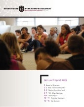 Youth Frontiers Annual Report