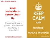 Youth Icebreakers - Family Dress-Up