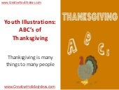 Youth Illustrations: ABC's of Thank...