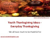 Youth Ideas - Everyday Thanksgiving