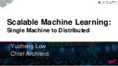Making Machine Learning Scale: Single Machine and Distributed