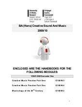 Semester 1 Handbook for Creative Mu...