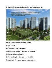Y shaped towers jaypee greens secto...