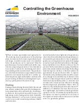 Controlling the Greenhouse Environment in Fairbanks, Alaska