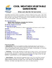 Cool Weather Vegetable Gardening Guide for Utah & Nevada