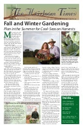 Fall & Winter Gardening in Yavapai County, Arizona - Plan in the Summer for Cool-Season Harvests