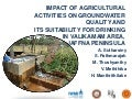 Impact of Agricultural Activities on Groundwater Quality and its Suitability for Drinking in Valikamam Area, Jaffna Peninsula