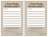 kids pledge - I can help the Redwoods