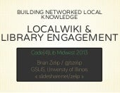 Building networked local knowledge:...