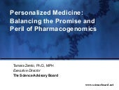 Personalized Medicine: Balancing th...