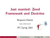 Just Married: Zend Framework and Do...