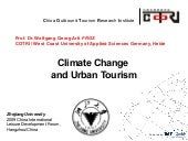 Climate Change and urban tourism in...