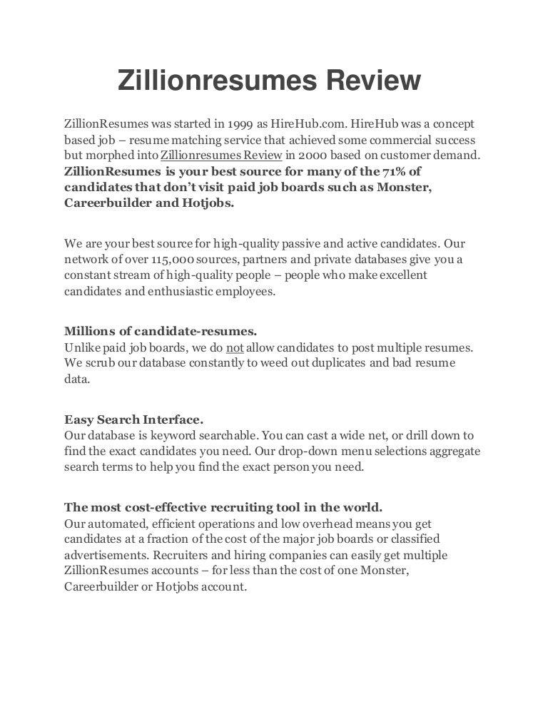 careerbuilder resume database