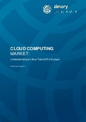 Zimory White Paper: The Cloud's Slo...