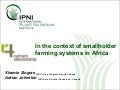 Zingore - 4R Nutrient Stewardship in the context of smallholder agriculture in Africa