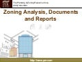 Zoning Analysis, Documents and Reports