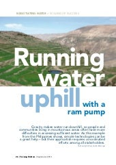 Running Water Uphill with a Ram Pump