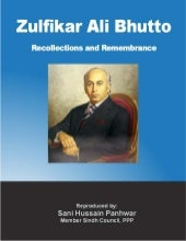 Zulfikar ali bhutto recollections a...