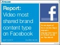 Report: Video Most Shared Content Type on Facebook