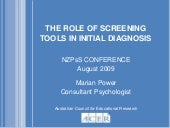 Marian Power -The Role of Screening...
