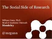 Charleston 2013: The Social Side of Research