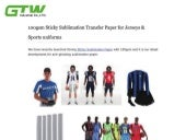 100gsm sticky sublimation transfer paper forJerseys & Sports uniforms