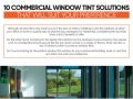 10 commercial window tint solutions that will suit your preference