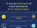 10 Crucial Elements of Lead Generation Form Optimization